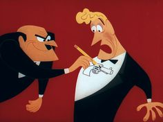 """""""The guy drew a gun on me!"""" From Symphony In Slang directed by Tex Avery and character designs by Tom Oreb. 1951."""