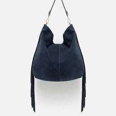 Image 1 of FRINGED SUEDE TOTE from Zara