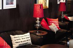 Saga Sapphire - Cooper's Bar  Bespoke fez lampshades