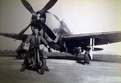 Grandpa's motorcycle and his WWII plane