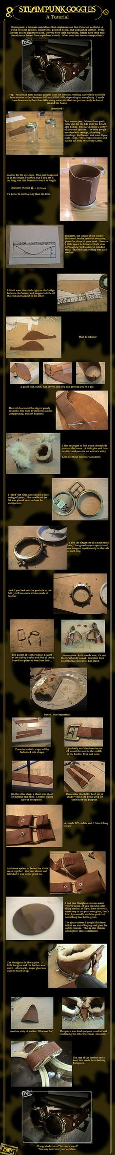 steampunk goggles DIY