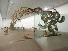 """""""Falling Back to Earth"""" Exhibition – 99 Animals flock together around a Pool by Cai Guo-Qiang"""