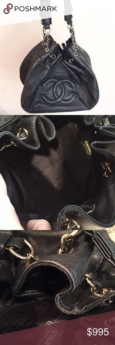 Authentic CHANEL bag/purse This Chanel bag with chain bas been used and has some minor flaws from wear. Comes with authenticity card. Inside of bag looks brand new. CHANEL Bags Shoulder Bags