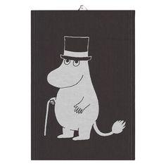 Big Moominpappa kitchen towel 35x50 cm from Ekelund Linneväveri - NordicNest.com Tove Jansson, Moomin, Kitchen Towels, Tea Towels, Fairy Tales, Snoopy, Big, Products, Dishcloth