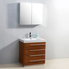 Bailey 30-Inch Single-Sink 4-Drawer Vanity Set - Overstock™ Shopping - Great Deals on VIRTU Bathroom Vanities