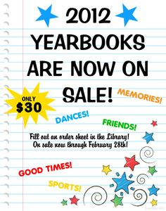 Make a School Yearbook Poster Yearbook Template, Yearbook Layouts, Yearbook Design, Yearbook Ideas, 6th Grade English, School Signs, Poster Ideas, Poster Designs, Sale Poster