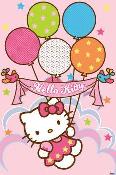 Hello Kitty Balloons L Clipart