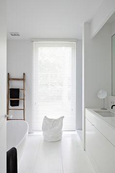 clean and crisp bathroom