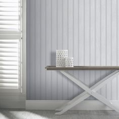 Arthouse Tongue and Groove Wood Panel Effect Wall Wallpaper 694300 White Pattern Wallpaper, Wood Effect Wallpaper, Look Wallpaper, White Wallpaper, Coastal Wallpaper, Wooden Wallpaper, Wall Wallpaper, Modern Wallpaper Designs, Contemporary Wallpaper