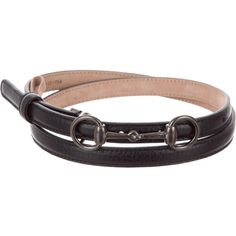 fcfa870421c Beige Horse Bit Buckle Dip Dyed Belt ( 129) ❤ liked on Polyvore featuring  accessories