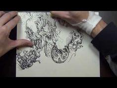 Cool SINGLE line drawing! w/ LASER WOODCUT - YouTube