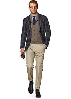 Jacket Blue Check Havana C790 | Suitsupply Online Store