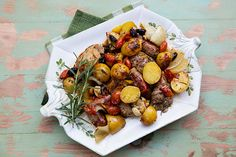 Italian Food Forever » Skillet Roasted Chicken, Potatoes, & Sausages