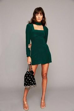 Paisley Dress - Emerald