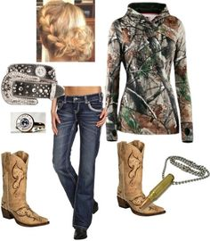 """Chic Camo Girl"" by hisbballstar on Polyvore"