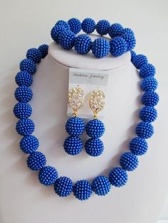 Find More Jewelry Sets Information about 2016 Fashion african Blue beads necklace set nigerian wedding african beads jewelry set Free shipping GG 446,High Quality jewelry qvc,China jewelry closet Suppliers, Cheap jewelry earphones from Chinese jewelry import and export co., LTD on Aliexpress.com