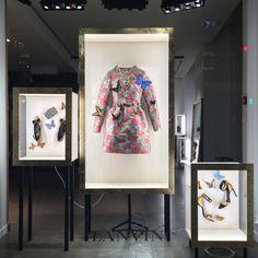 "LANVIN,Faubourg Saint-Honore, Paris,France, ""Les vitrines Lanvin transformees en cabinets de curiosites"",(Lanvin windows turned into curiosity cabinets), photo by The Window Lover, pinned by Ton van der Veer"