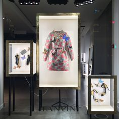 "LANVIN,Faubourg Saint-Honore, Paris,France, ""Les vitrines Lanvin transformees en cabinets de curiosites"",(Lanvin windows turned into curiosity cabinets), photo by The Window Lover, pinned by Ton van der Veer"