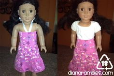 "Diana Rambles: Recycle Skorts into 18"" Doll Dress Tutorial"