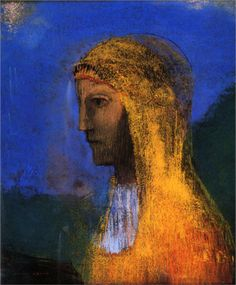 The Druidess by Odillon Redon 1893 charcoal on paper