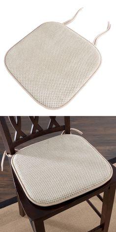 "Universal Chair Seat Cushion 2/"" Foam w// Ties Solid Dark Brown 16/"" x 16/"""