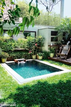 Small pools for small backyards pin by on dream house backyard swimming pools and small pools small backyard pool ideas Small Inground Pool, Small Swimming Pools, Small Backyard Pools, Small Pools, Swimming Pools Backyard, Swimming Pool Designs, Pool Landscaping, Small Backyards, Landscaping Design