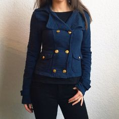 💋Flash Sale💋UO Sailor-Style Navy Jacket Item description: great little jacket to throw on over your next spring outfit! Detailed with anchor buttons, double breasted button closure front  Fit: true to size  Condition: like new  Major defects/damage: none  Sorry, no trades. Urban Outfitters Jackets & Coats Blazers