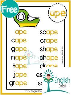Preschool Phonics, Teaching Phonics, Phonics Worksheets, Teaching Writing, English Stories For Kids, Learning English For Kids, English Worksheets For Kids, Reading Intervention Activities, Phonics Reading