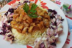 Pilaf cu sos de ciuperci No Cook Desserts, Chana Masala, Risotto, Pizza, Grains, Curry, Rice, Vegan, Chicken
