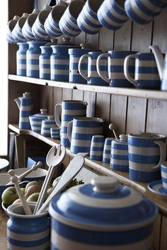 So English!...... Cornishware....     http://www.tggreen.co.uk/about-us
