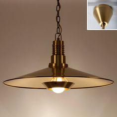 LARGE Brass pendant by Fog & Morup in the by DanishVintageLights
