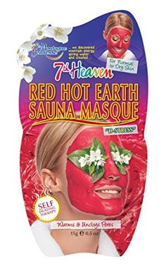 Montagne Jeunesse Red Hot Earth Sauna Masque 05 Ounce 12 Count -- Learn more by visiting the image link. Pastel Nail Polish, Stress, Unclog Pores, Body Glitter, Facial Masks, Cleanse, How To Apply, Earth, Hot