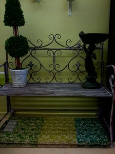 Classic Iron Bench in Grey