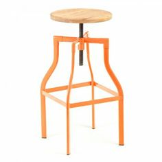 45cm Orange Industrial Swivel Turner (size: 45) Machinist Stool