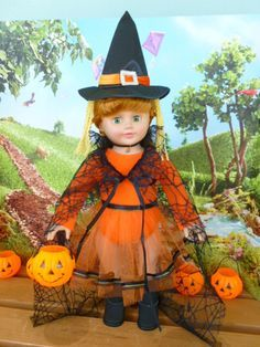 Halloween Outfit for 18 Inch Dolls by NoSkeinNoGainDesigns on Etsy, $16.00
