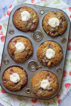 Strawberry and Cream Muffins