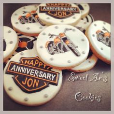 Harley Davidson Motorcycle Set                                     By Sweet An's Cookies