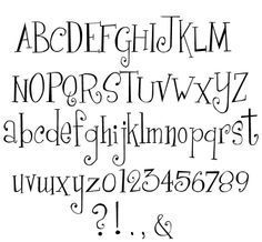hand lettering alphabet - Google Search                                                                                                                                                                                 More
