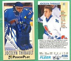 Jocelyn Thibault Ouebec Nordiques Signed 1993-1994 Power Play Card # 426 SL COA . $7.00. Quebec Nordiques GoalieJocelyn ThibaultHand Signed 1993-1994 Fleer Power Play Rookie Card # 426.GREAT AUTHENTIC HOCKEY COLLECTIBLE!!AUTOGRAPH AUTHENTICATED BY SPORTS LOT AUTHENTICATIONS WITH NUMBERED SPORTS LOT AUTHENTICATION STICKER ON ITEM. SPORTS LOT COA:  # 10487ITEM PICTURED IS ACTUAL ITEM BUYER WILL RECEIVE.