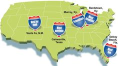 USA Today's Best of the Road 2012: The five best small towns in America – Friendliest: Murray, Kentucky.