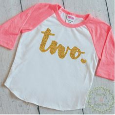 2 Year Old Birthday Shirt Girl Two Year by BumpAndBeyondDesigns