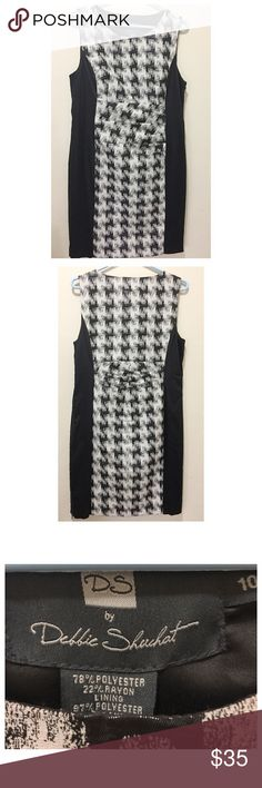 "DS Black and Grey Dress DS by Debbie Shuchat Dress. Size 10. New with tag. Bust 17"", Waist 16"", Length 37"". Dresses Midi"