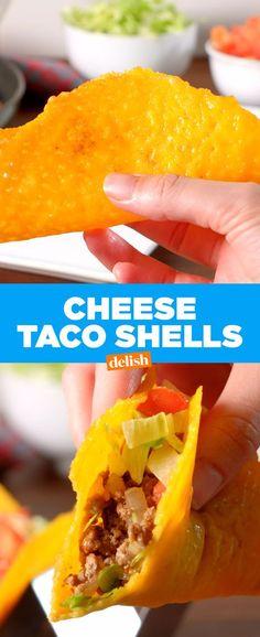 Cheese Taco ShellsDelish