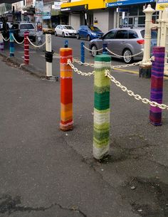 yarn bombing, Yarraville, Melbourne by *carolion*