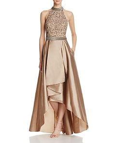 e978b09c9370 Adrianna Papell Beaded T-Back Gown Women - Bloomingdale s