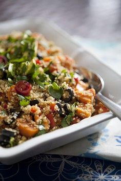 Simple Sweet Potato Quinoa Salad with Southwestern Flair. An easy side dish or vegetarian main dish for dinner.