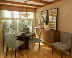 Dining room, loving the chairs!