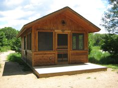 "rustic screened cabins | Camping"" at Sibley State Park 