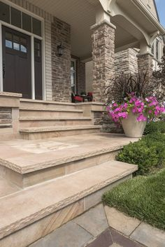 ❱❱ Irresistible Patio Steps With Landing That Will Beautiful Your Patio . - ❱❱ Irresistible Patio Steps With Landing That Will Beautiful Your Patio Patio Steps With - Concrete Patios, Gravel Patio, Concrete Steps, Backyard Patio, Front Porch Stairs, Front Porch Design, Front Walkway, Front Steps, Deck Stairs