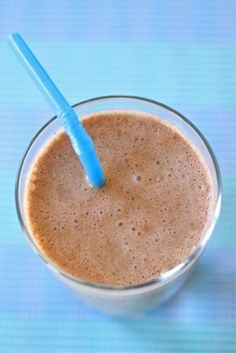 Chocolate, Peanut Butter, and Banana Smoothie   Make and Takes